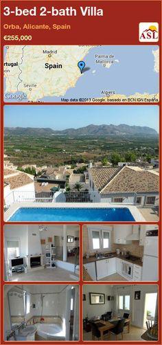 3-bed 2-bath Villa in Orba, Alicante, Spain ►€255,000 #PropertyForSaleInSpain