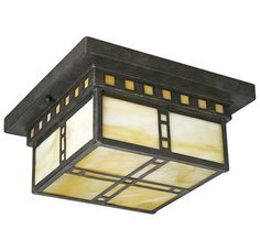 Progress Lighting P3513 Craftsman / Mission Flushmount Ceiling Fixture from the Arts