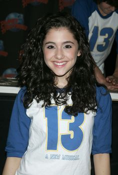 Young Ariana Grande. She was on broadway in this musical with Elizabeth Gillies !!