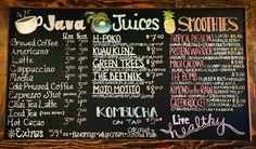 Kuau Store- Paia Delicatessen and General Store. Smoothie and Juice Bar. On Hana Hwy. Road to Hana. Hawaiian Coffee, Road To Hana, Coffee Tasting, Drink Menu, Coffee Branding, Brewing, Carrots, Juice, General Store