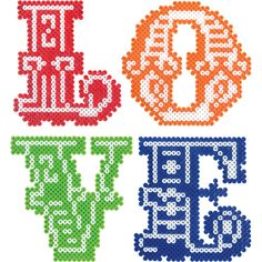 """The 3"""" size and detailed letter style in our LOVE message is created with Mini Beads."""