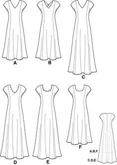 """princess cut"" dress pattern"