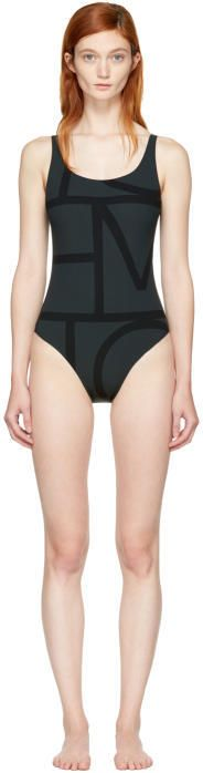 Totême Black Positano Swimsuit