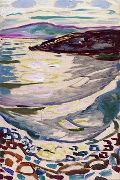 1918 Landscape from Hvitsten oil on canvas 90 x 60 cm Munch Museum, Oslo
