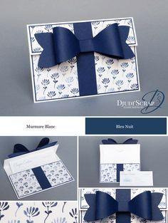 Stampin'Up! by Djudi'Scrap - Tutoriel Carte Chèque Cadeau « Bigz L Noeud Parfait / Gift Bow Bigz L »