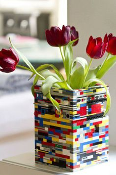 what to do with old legos!! love it for a little boys lego room