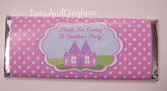 Princess Castle Printable Candy Bar by DotsAndGingham on Etsy, $6.00