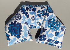 All Organic Neck Pillow indigo blue print fabric 21 by PureRest