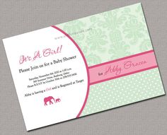 DIY printable Custom Baby Shower Invitations & matching decorations