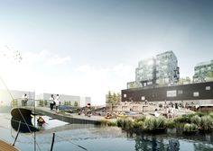 CF Møller plans Copenhagen harbour baths that double as classrooms