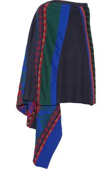 Sacai Intarsia wool-blend cape | NET-A-PORTER I have always loved colorful wraps