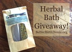 Herbal Bath Giveaway!!