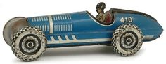 Marx Super 410 racing car American, clockwork blue tinplate… - Clockwork - Toys & Models - Carter's Price Guide to Antiques and Collectables