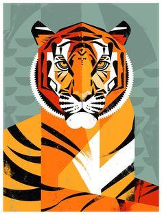 Dieter Braun: Tiger Tiger Illustration, Animal Graphic, Graphic Art, Magnificent Beasts, Ecole Art, Tiger Art, Grafik Design, Animal Design, Animal Paintings