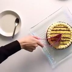 Slice those cake perfectly like a pro and place it elegantly on a plate with the new Perfect Cake Slicer. Slice those cake perfectly like a pro and place it elegantly on a plate with the new Perfect Cake Slicer. Dessert Simple, Quick Dessert Recipes, Easy Desserts, Cheesecake Oreo Sin Horno, Diy Spring, Cake Slicer, Cooking Gadgets, Christmas Desserts, Diy Food