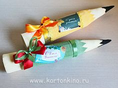 Карандаш из конфет своими руками