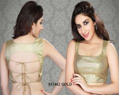 Gold Shimmer Saree Blouse http://rajasthanispecial.com/index.php/gold-shimmer-saree-blouse.html