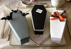 Coffin Box Coffin Favor Box Halloween Wedding by CutNCreateCanada