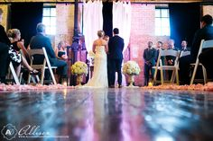 I love so many things about this wedding - both ceremony and reception at the McKinney Flour Mill