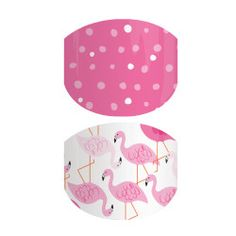 Jamberry Junior nail wraps! Included in the Buy 3, Get 1 FREE wrap deal! Pink Flamingo | Jamberry