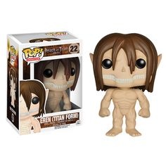 This Funko Pop! Vinyl figure of Eren Jaeger features the Titan form of the lead character in the popular series Attack on Titan. It's 3 3/4 inches tall and comes in a collectible window box. #nesteduniverse