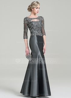 fe85a054e0   166.94  Trumpet Mermaid Scoop Neck Floor-Length Taffeta Mother of the  Bride Dress With Beading Appliques Lace Sequins (008085305)