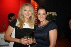 RTL-Exklusiv-Moderatorin Frauke Ludowig mit unserer Kollekin Sabrina beim Bunte New Faces Award Fashion 2013.  http://www.styleranking.de/news/designer/bunte-new-faces-award-fashion-2013-achtland-gewinnt-den-roten-panther-142551