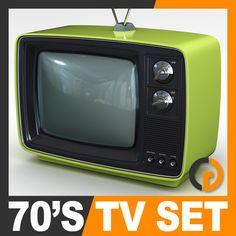 Retro Style 70's Television Set