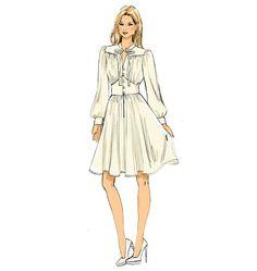 V9076, Misses' Dress