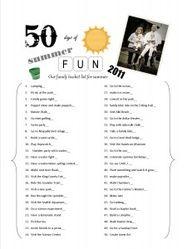 Actually follow through with a summer a bucket list. [Summer Bucket List: 2012] click
