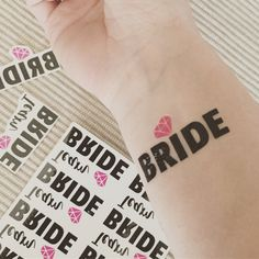 New Temporary tattoos for your bachelorette party!! 🎉🎉🎉