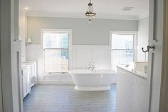 The best paint colors to paint your bathroom. Whether you like blues, greens or grays, I've got the most spa-like bathroom paint colors covered! Sherwin Williams Sea Salt, Bad Inspiration, Bathroom Inspiration, Bathroom Ideas, Simple Bathroom, Bath Ideas, Sea Salt Paint, Sw Sea Salt, Best Bathroom Paint Colors