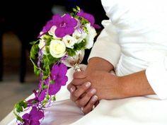 bouquet orchidées violettes