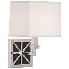 "Mary McDonald Directoire Gray 13 3/4"" High Silver Wall Lamp"
