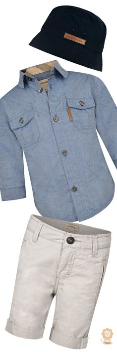 Burberry ● Baby Boys Chambray Shirt & Bermuda Shorts