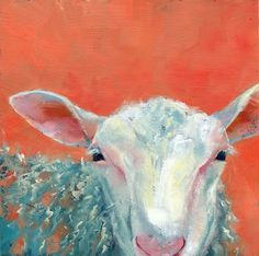 Peachy Sheep - oil by ©Brenda Ferguson (via DailyPainters)