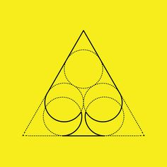 Card suits geometry on Behance