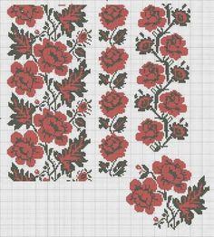 Folk Embroidery, Cross Stitch Embroidery, Embroidery Patterns, Cross Stitch Charts, Cross Stitch Patterns, Craft Accessories, Folk Fashion, Pattern Fashion, Needlework