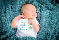 Made In Hawaii State Bodysuit Tshirt Baby Kid Onesie Personalized Name Custom Kauai Oahu Molokai Lanai Maui Big Island