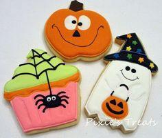 Halloween Cupcake, Pumpkin & Ghost Cookie