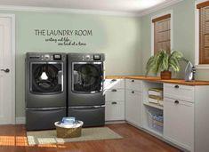 super wohnliche und moderne waschküche