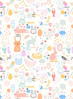 Easter surface pattern - available for commissions © Studio Sjoesjoe www.studiosjoesjoe.com