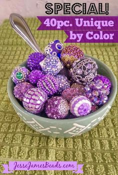 Deliciously, Decadent beads lookin' good enough to eat. JJB's 40pc. Unique by Color Special!