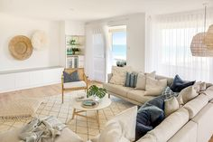 A home tour of our latest interior design and styling project. A Contemporary Australian Coastal Boho beach house - Minted Interiors Coast Project. Coastal Living Rooms, Boho Living Room, Living Room Decor, Living Area, Style At Home, Boho Lounge, Surf House, Beach House Decor, Home Decor