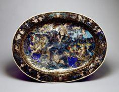 Apollo and the Muses-Jean de Court (French, active ca. 1541-1564) (Artist)  PERIOD  1555-1585 (Renaissance)  MEDIUM  enamel over foil on copper  (Enamels)
