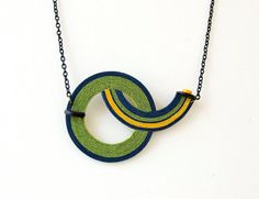 Green/NecklaceGeometric/Necklace by alexandraJewelrySHOP on Etsy, $38.00 #necklace #geometric
