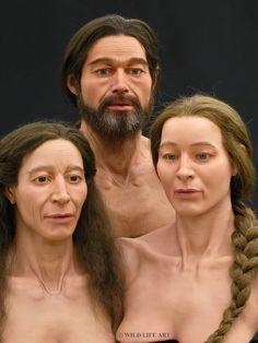 Facial reconstruction of bronze age Europeans