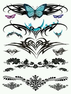 Lower back tattooes