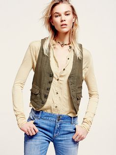 Free People Menswear Cotton Vest at Free People Clothing Boutique