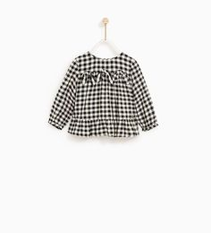 GINGHAM SHIRT WITH BOWS